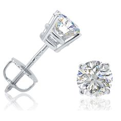 online shopping for AGS Certified TW Round Diamond Solitaire Stud Earrings Gold Screw Backs from top store. See new offer for AGS Certified TW Round Diamond Solitaire Stud Earrings Gold Screw Backs White Gold Diamond Earrings, Diamond Studs, White Gold Diamonds, Round Diamonds, Diamond Jewelry, Gold Earrings, Natural Diamonds, Pandora Earrings, Solitaire Earrings