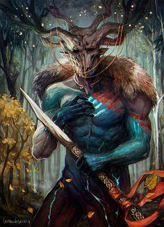 Fantasy Literature & Art — lorandesore: Cernunnos by LoranDeSore Dark Fantasy Art, Fantasy Artwork, Fantasy Character Design, Character Design Inspiration, Character Art, Fantasy Monster, Monster Art, Illustration Fantasy, Demon Art