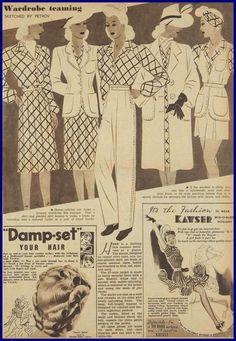 vintage 1940s capsule wardrobe