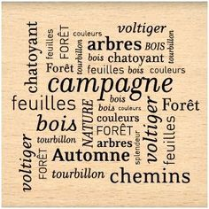 Florilèges - Tampon Bois - Thème automne