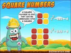 What is a square number? A Free Printable Poster for your Math Wall or behind the Bathroom Door :-)