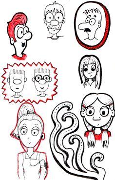 Desenho do Dia #84 - Pessoinhas - Soraia Casal