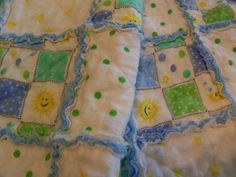 Rag Quilt for Baby Boy by BinkysThings on Etsy, $35.00