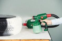 Cómo hacer un puf para decorar con un neumatico reciclado 3