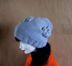 SPRING Handmade Knit Cable Hat Beanie Slouchy Hat by recyclingroom, $28.00