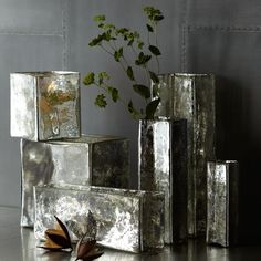 Shop for Mercury Glass Cityscape Vases by west elm at ShopStyle. Mercury Glass Mirror, Flameless Candles, Candleholders, Of Wallpaper, West Elm, Home Accents, A Table, Home Accessories, Decorative Pillows