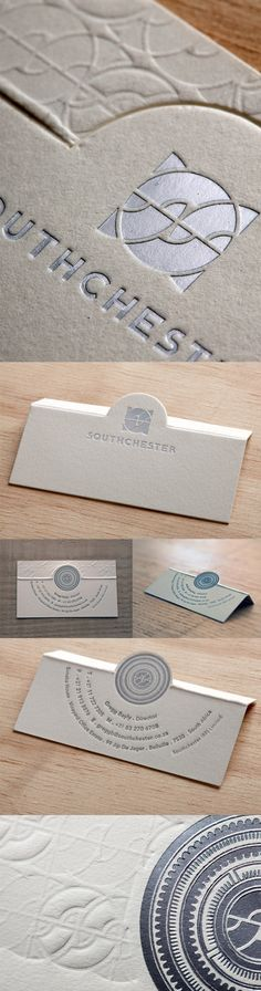 Elegant Silver Foil And Custom Die Cut Folding Business Card                                                                                                                                                                                 More