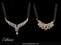 A complete collection of mangalsutra designs for the modern bride. Mangalsutra is the most auspicious jewelry piece a bride will own once she married. Diamond Mangalsutra, Gold Mangalsutra Designs, Gold Jewellery Design, Diamond Jewellery, Diamond Necklace Set, Diamond Pendant, Trendy Jewelry, Jewelry Patterns, Bridal Jewelry