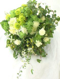 ブーケ クラッチ ハーブ&ナチュラル : 一会 ウエディングの花