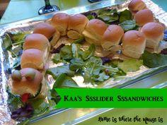 Kaa's Slider Sandwiches