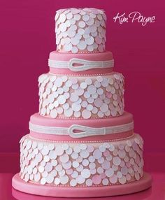 What made this cake stunning? The color or the sequins looking accent?    @KatieSheaDesign ♡♡♡♡ dots