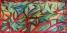 Artwork >> Anne Philippe Patchworld >> The jungle #artwork, #oil, #painting, #masterpiece, #jungle