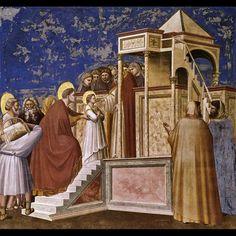Giotto di Bondone   * 1267 † 1337  La presentazione della Vergine al tempio  1307 Cappella degli Scrovegni Padova