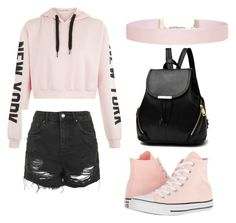 """""""❤️❤️❤️"""" by aatway ❤ liked on Polyvore featuring Topshop, Converse and Humble Chic"""