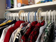 honeysuckle: nursery nesting: diy closet organizers