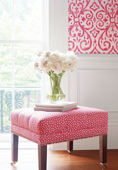 Westover Ottoman from #ThibautFineFurniture in Pongo