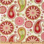 Michael Miller Gypsy Bandana Gypsy Paisley Pink/Lime