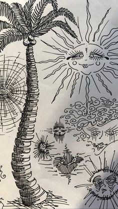 Pretty Art, Cute Art, Typographie Inspiration, Arte Sketchbook, Hippie Art, Boho Hippie, Art Hoe, Art Drawings Sketches, Indie Drawings