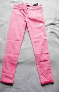 Girls abercrombie Kids Neon Pink Jeans Size 14 New withTags Free Shipping Starting Bid $19.99