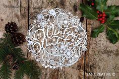 Christmas Papercut Template 'Winter Wonderland' PDF