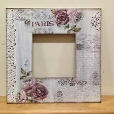 Resultado de imagem para portaretratos+de+madera+vintage Frame Crafts, Wood Crafts, Fun Crafts, Diy And Crafts, Arts And Crafts, Diy Craft Projects, Projects To Try, Ikea Mirror, Mirrored Picture Frames