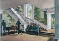 Twelve Oaks Plantation | One of the sketches for Twelve Oaks stairway that was not used