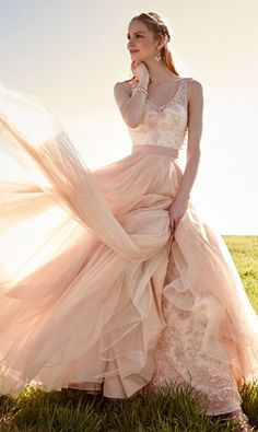 Lovely Wedding Dresses,Long Wedding Gown,Tulle Wedding Gowns,Ruffled Bridal Dress,Romantic Wedding D on Luulla