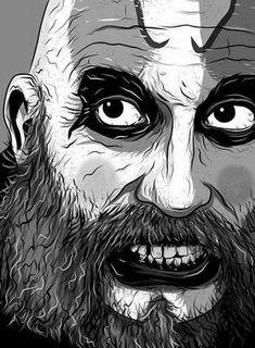 Captain Spaulding Clown Horror Movie, Horror Movie Characters, Creepy Horror, Arte Horror, Halloween Horror, Horror Movies, Evil Clowns, Scary Clowns, Rob Zombie Art