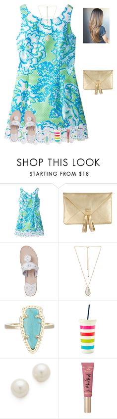 """Just made a group. Link in d to join"" by raquate1232 ❤ liked on Polyvore featuring Lilly Pulitzer, Jack Rogers, Kendra Scott, Kate Spade, Kenneth Jay Lane and Too Faced Cosmetics"