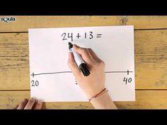 Squla uitlegfilmpje: rekenen met de getallenlijn (groep 4)