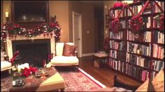 The Family Room Decorated for Christmas
