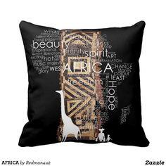 AFRICA THROW PILLOWS