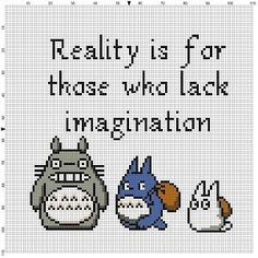 Totoro - Reality is for those who lack imagination - Cross Stitch Pattern…