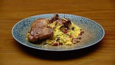 Samira's Roasted Chicken Maryland is succulent and full of flavour, especially when complimented with Shirin Pilaf and a smooth Pumpkin Puree. MasterChef Australia, Season 10, Episode 40. Chicken.