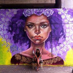 Street Art by Elisa Rank #art #arte #mural #streetart