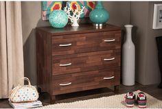 Drawer Storage Chest Modern Contemporary Oak Brown Finish Wood Furniture New #BaxtonStudio #Contemporary #Drawer #Storage #Chest #Furniture