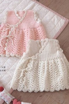 Crochet Baby Dress - Free Crochet Diagram - (clubmasteric)* ༺✿ƬⱤღ  https://www.pinterest.com/teretegui/✿༻