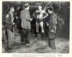 """Superman and the Mole Men"", 1951  Vintage Photo Still 8x10""  Starring George Reeves.   see at www.cvtreasures.com   $175"
