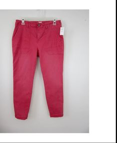c0b64f5b8e GAP Skinny Utility Jeans Womens Size 4 Long Winter Berry Pink New Nwt  Gap