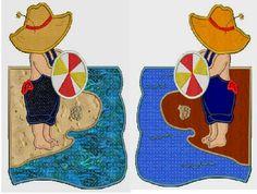 Beach bum Sam applique embroidery designs1 design8