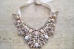 Pastel Beaded Statement Necklace