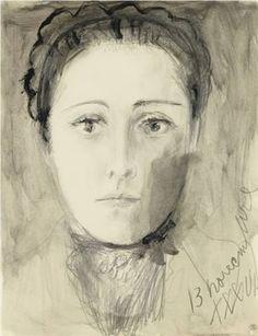 Pablo Picasso - Portrait de Dora Maar (Dora Maar à la coiffe), 1936.