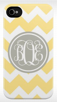 Personalized Iphone case - in one of my favorite prints and favorite color schemes. Such a great idea!