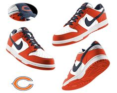 Nike Chicago Bears white red Dunk Shoes    NO.:995310608 Size:  Shop price:$65