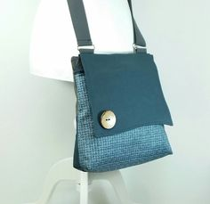 Crossbody  bag purse, Handmade  bag, Eco bag, Fabric bag, Blue bag, Canvas bag, Vegan bag, Gift under 100,Small Sling Bag,Gift for her