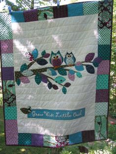 Owl quilt....@Lauren Hunke  cutest owls EVER!!
