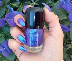 Kiko Glitter metal nail lacquer 05 blu indaco   Nailartenon