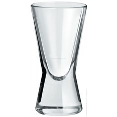 Borgonovo  Biconic Baby Shot Glass 420 ml    The Biconic Shot Glasses offer a distinctive and unique V shape that will liven up any party or bar. These tall 4.2 cl shooter glasses are feature a heavyweight base and are ideal for serving up a variety of spirits and liqueurs.