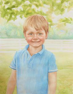 Watercolor portrait Sarah Pogue
