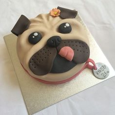 Amazing Photo of Pug Birthday Cake Pug Birthday Cake Pug Dog Cake Torty Detsk V Roku 2018 Pinter Fondant Cakes, Cupcake Cakes, Dog Cupcakes, Cake Dog, Birthday Cake Icing, Dance Cakes, Pinterest Cake, Animal Cakes, Gateaux Cake